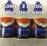 3 Bottle Bundle Pack 60ML Plastic Bottle
