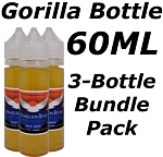 3 Bottle Bundle Pack 60ML Gorilla Bottle