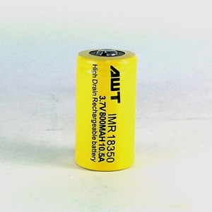 AWT 18350 800mah Button Top Battery