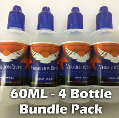 4 Bottle Bundle Pack 60ML Plastic Bottle